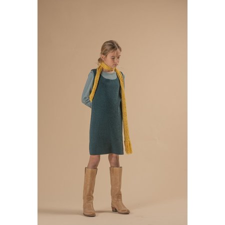 Kids long live the queen knitted dress - spruce