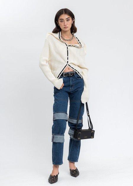Y/project  Classic Multi Cuff Jeans - Blue