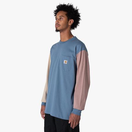 Carhartt WIP Triple Pocket Long Sleeve T-shirt Icesheet / Wall - Earthy Pink
