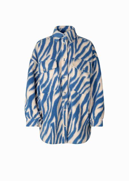 Cras Porter jacket - Blue zebra