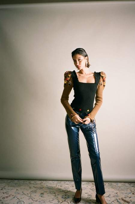 Cormio Combo Oma Sweater - black/brown