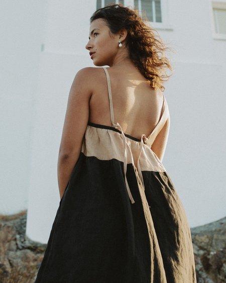 harly jae Picnic Dress - Tan/Black