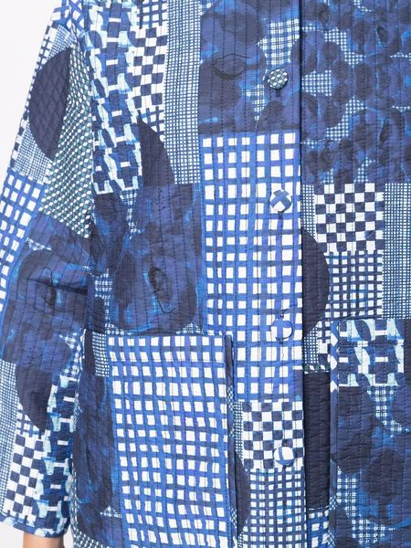 Pipette Quilted Jacket in Blue Patchwork by Henrik Vibskov