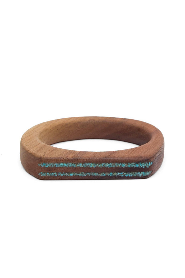 Parts Per Million Oregon Walnut Two Stripe Bangle