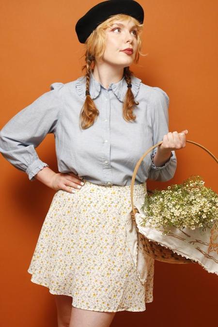 Dress Forum Jeanne Floral Mini Skirt - Ivory