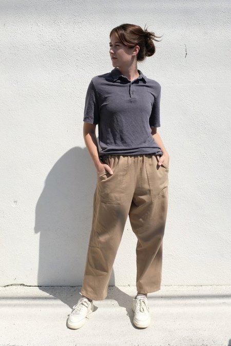 Jungmaven 100% Hemp Polo Shirt - Diesel Gray