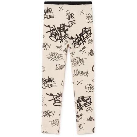 little creative factory graffiti leggings - natural