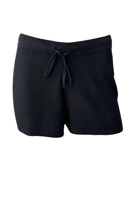 St. Agni Zola Knit Shorts - Black