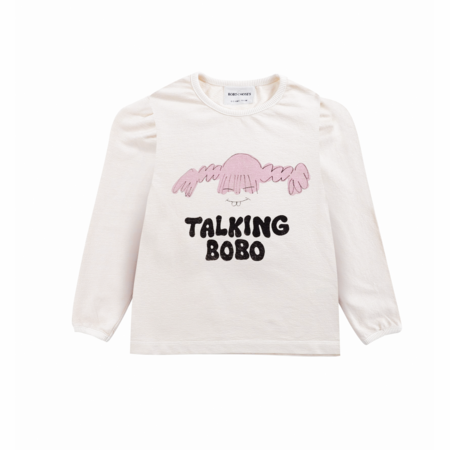 Kids Bobo Choses Girl Talk Long Sleeve T- Shirt - Jet Stream