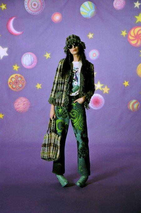 Anna Sui Technicolor Tartan Tote Bag - Lilac