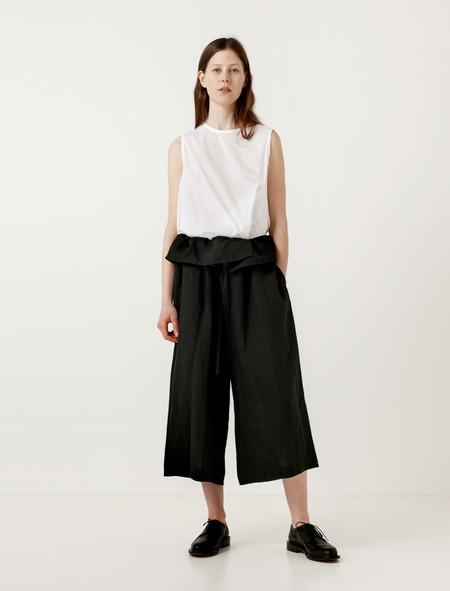 Ys by Yohji Yamamoto Foldover Waist Cropped Pants