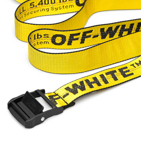 OFF-WHITE Classic Industrial short belt - Yellow