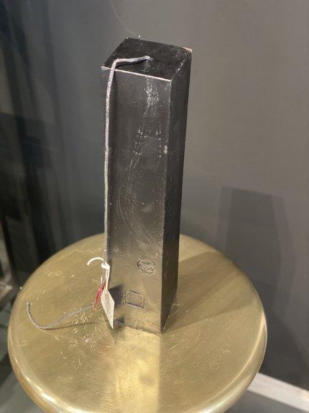 "Celine Cannon Square Pillar Black Solid 16"" Candle"
