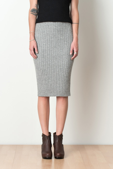 ELEVEN SIX Alaina Sweater Skirt In Slate Moulin