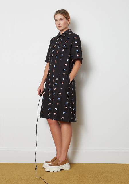 YMC  Harvest Dress - Black Floral