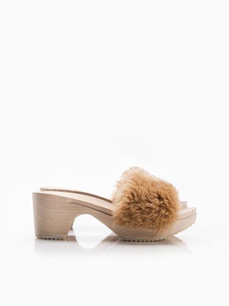 ZUZII FOOTWEAR midi slides - Camel