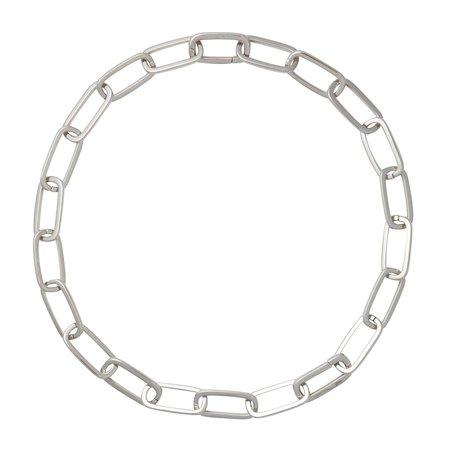 Machete Grande Solid Sterling Paperclip Chain