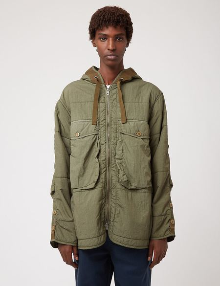 Nigel Cabourn Quilted Parka Jacket - Army Green