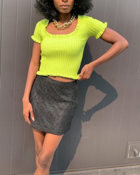 Find Me Now Pax Knit Top - Lime