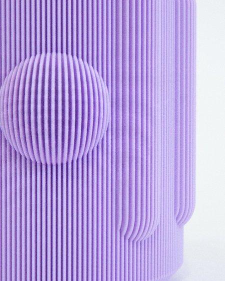 UAU Project 3D Print Vase 01 - Lavender