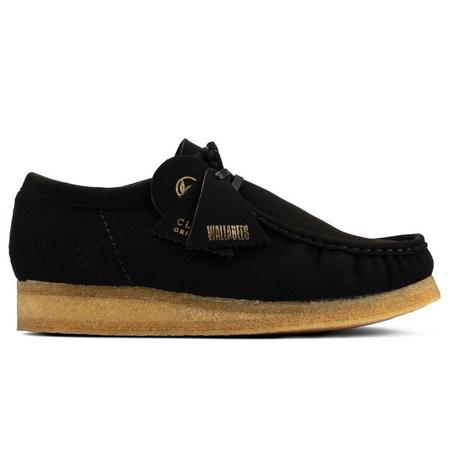 Clarks Wallabee shoes - Black Vegan
