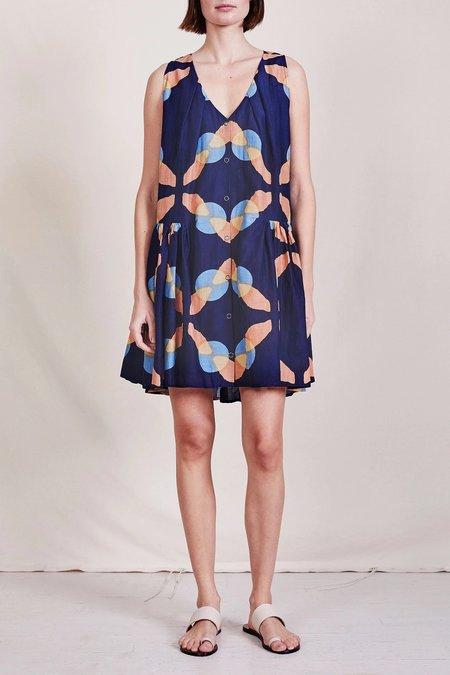 Apiece Apart Rosarito Mini Dress - shibori geo floral