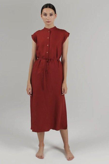 Par en Par Cap Sleeve Caftan Dress - Rust