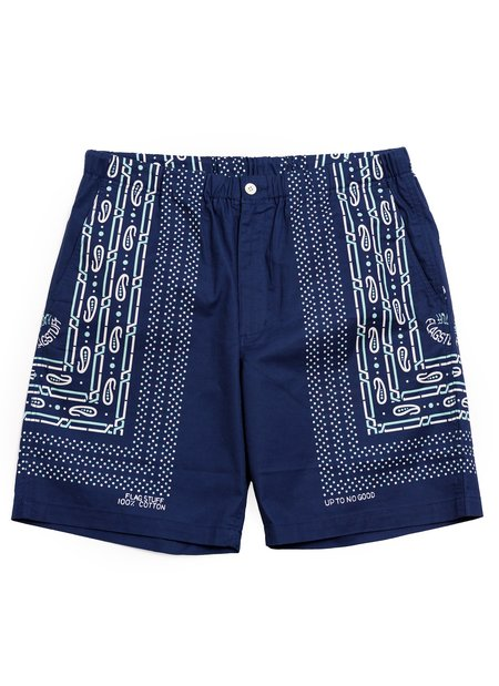 FLAGSTUFF Bandana Shorts - Navy