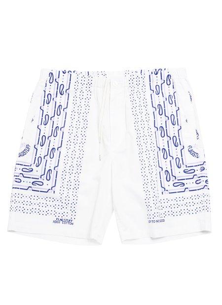 FLAGSTUFF Bandana Shorts - White