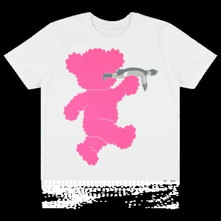 kids caroline bosmans t-shirt - white/pink teddy