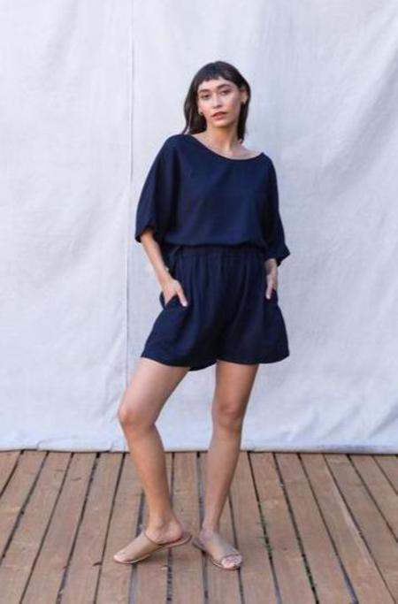 Gracemade Rhoda Shorts - Navy