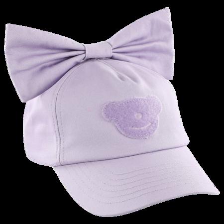 Kids caroline bosmans cap - bow purple