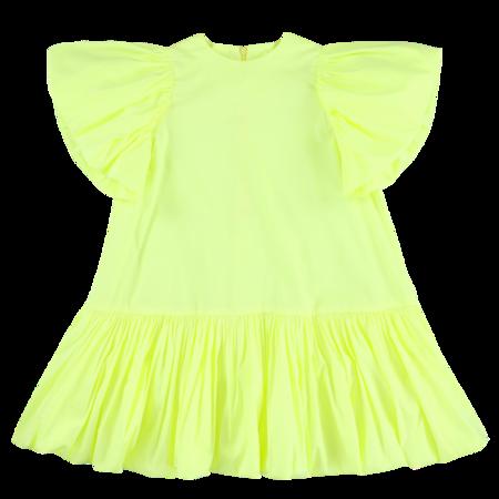 Kids caroline bosmans puff sleeve dress - yellow