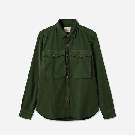 Foret Gone Corduroy Shirt - Dark Green