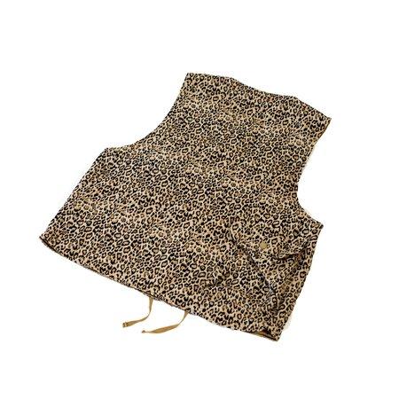 Engineered Garments Cover Vest - Beige CP Leopard Jacquard