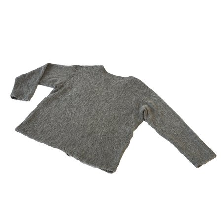 Engineered Garments Solid Mohair V Neck Popover - Heather Gray