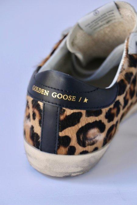 Golden Goose Super Star Sneakers -  Leopard Print/Black Leather