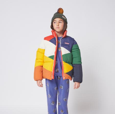 Kids Bobo Choses  Block Padded Puffer Jacket - Multi Color