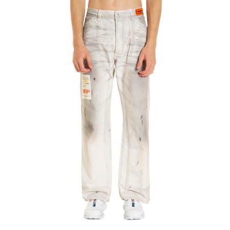 HERON PRESTON Label dirt wash carpenter pants