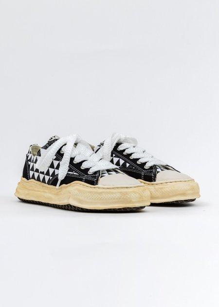 Mihara Yasuhiro Canvas Original Sole Overdyed Lowcut Sneaker - Black Printed