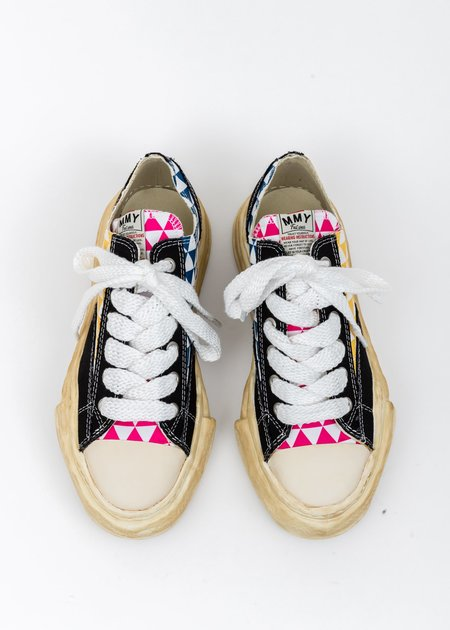 Mihara Yasuhiro Canvas Original Sole Overdyed Lowcut Sneaker - Multi Printed