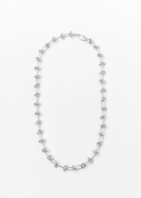 DEPARTMENT Lace Lock Necklace - Silver