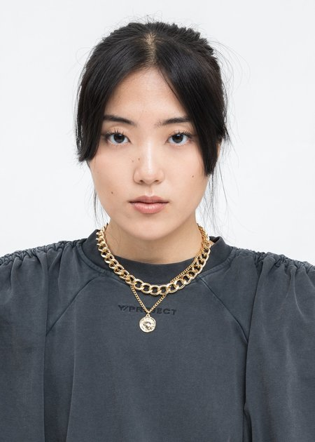 DEPARTMENT Mix Chains And Coin Necklace - Gold