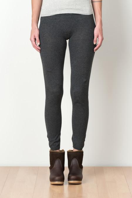 Evam Eva Cotton Cashmere Leggings In Charcoal