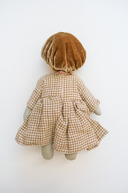 kids Lamb Ears and Roots Mushroom Doll - Olive