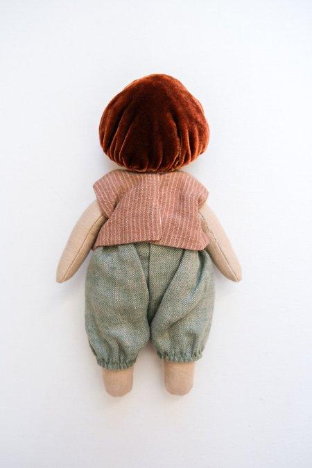 kids Lamb Ears and Roots Mushroom Doll - Sage