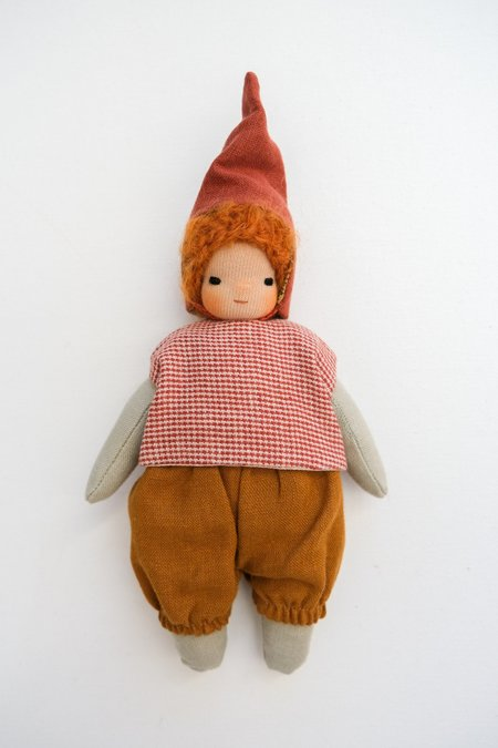 Lamb Ears and Roots Gnome Doll - Aster