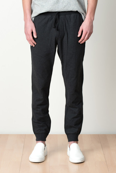 Wings + Horns Double Knit Lounge Pant In Charcoal