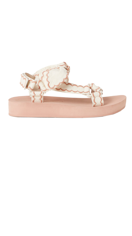 Loeffler Randall Maisie Sporty Sandal - Deep Blush