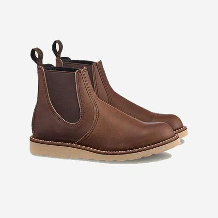 Red Wing Shoes Classic Chelsea Leather Boots - Amber Harness